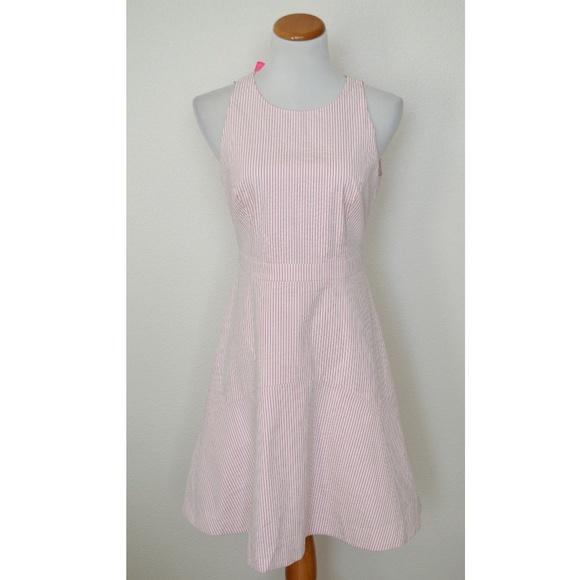 j crew factory seersucker dress